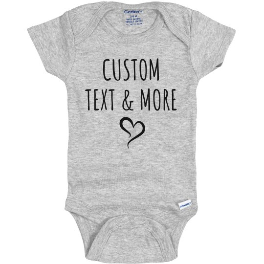 Custom Text & Images Cute Baby