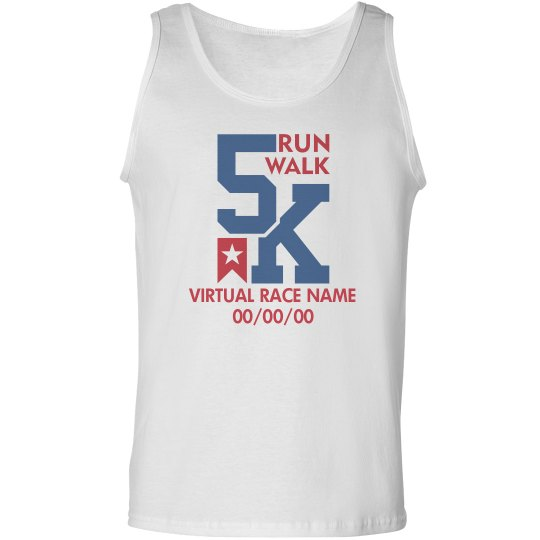 Custom Text 5K Virtual Running Tank