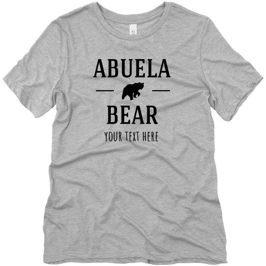 Custom Text Abuela Bear Tee