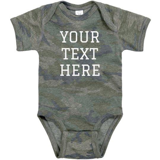 Custom Text Baby Camo