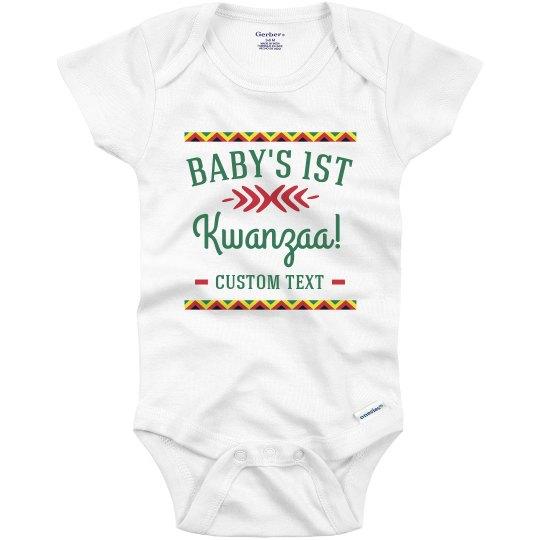 Custom Text Baby's 1st Kwanzaa Onesie