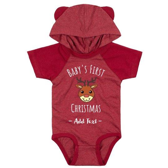 Custom Text Baby's First Christmas