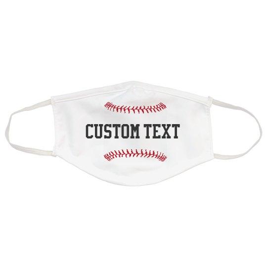 Custom Text Baseball Stitching Mask