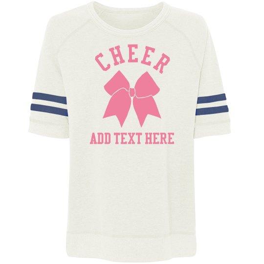 Custom Text Cheer Bow