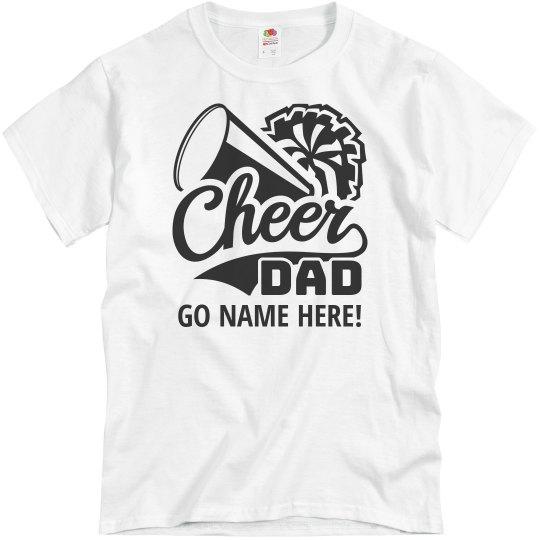 Custom Text Cheerleader Dad