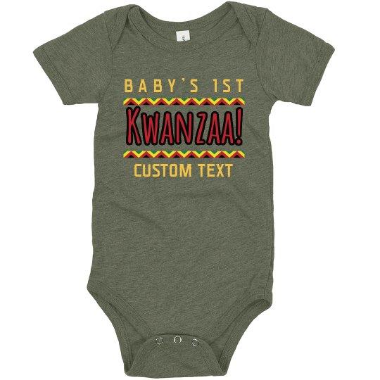 Custom Text Chevron Kwanzaa Bodysuit