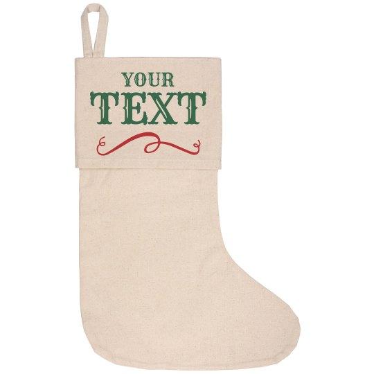 Custom Text Christmas Decor