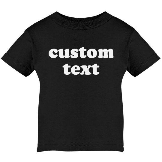 Custom Text Create Your Own Baby