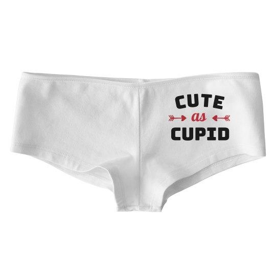 Custom Text Cute As Cupid Underwear