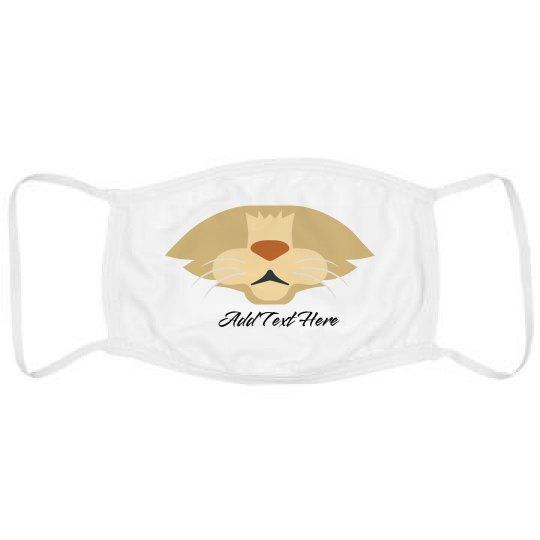 Custom Text Cute Cat Mask