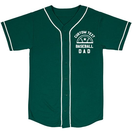 Custom Text Dad Baseball Jersey