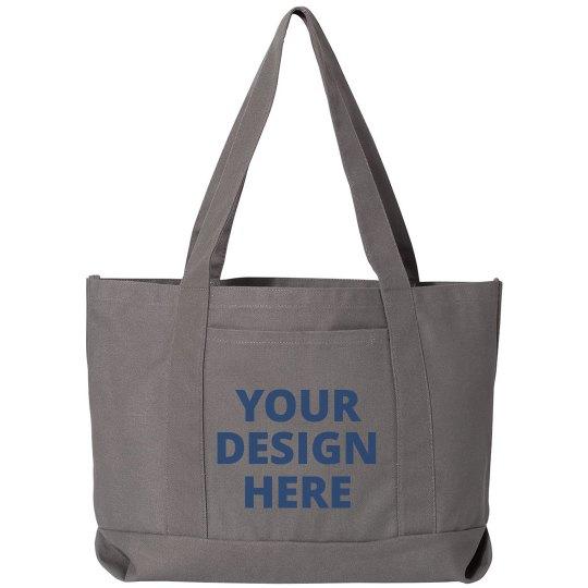 Custom Text Design Tote Bag