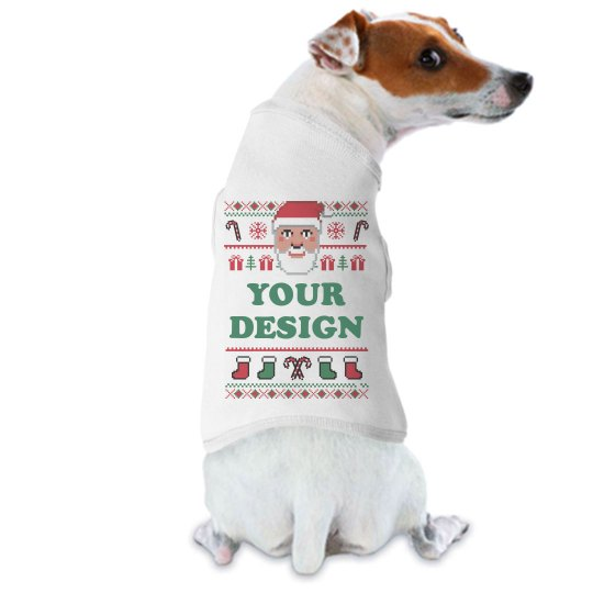 Custom Text Dog Christmas Sweater