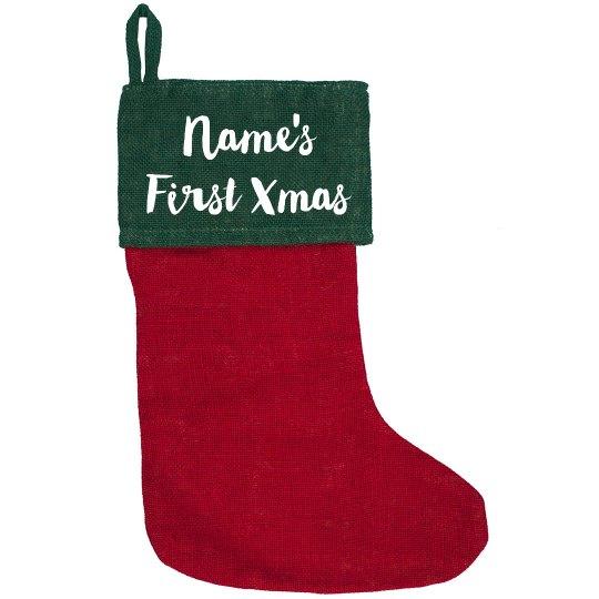 Custom Text First Christmas