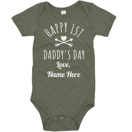 Custom Text First Father's Day