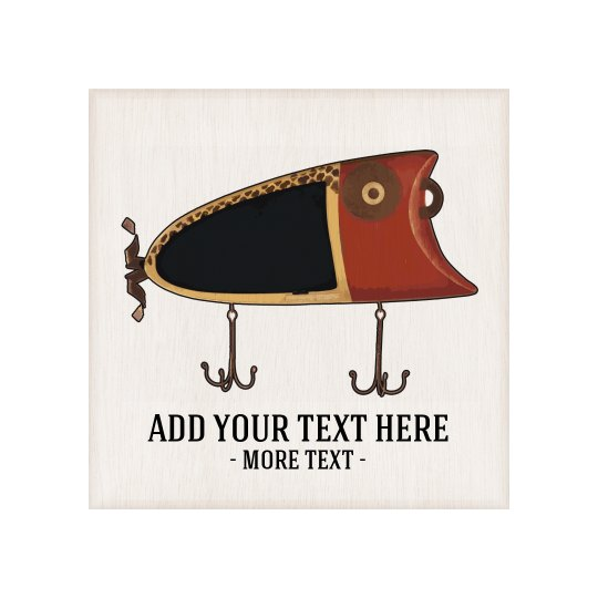 Custom Text Fishing Plaque