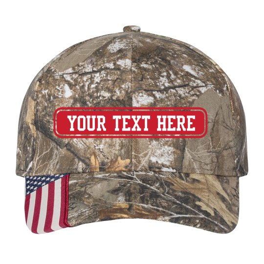 Custom Text Flag Hat