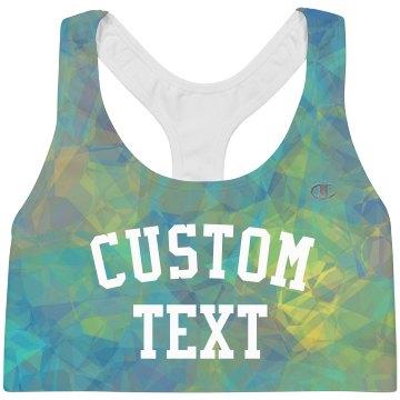 Custom Text Geometric Sports Wear