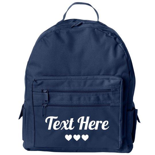 Custom Text Girl Back To School