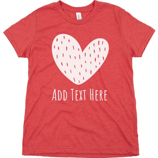 Custom Text Girls Valentine Outfit
