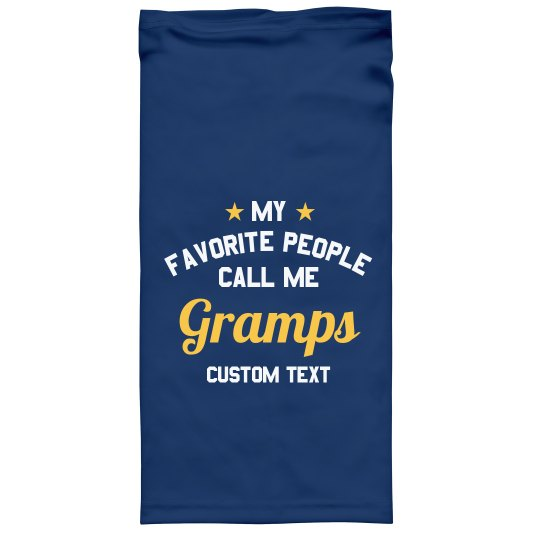 Custom Text Gramps Face Cover