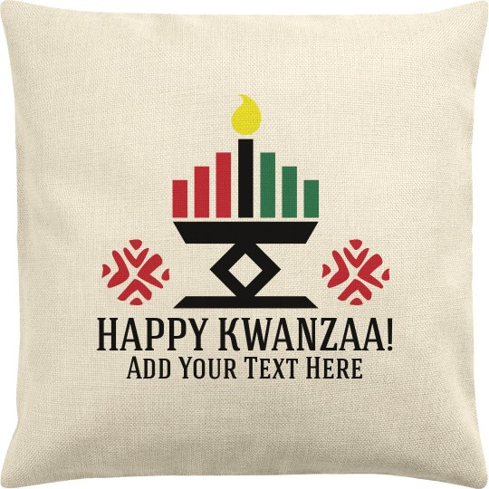 Custom Text Happy Kwanzaa Cover