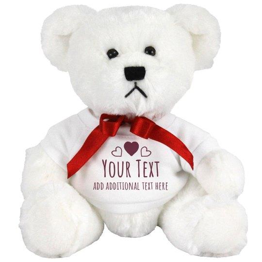 Custom Text Hearts Bear
