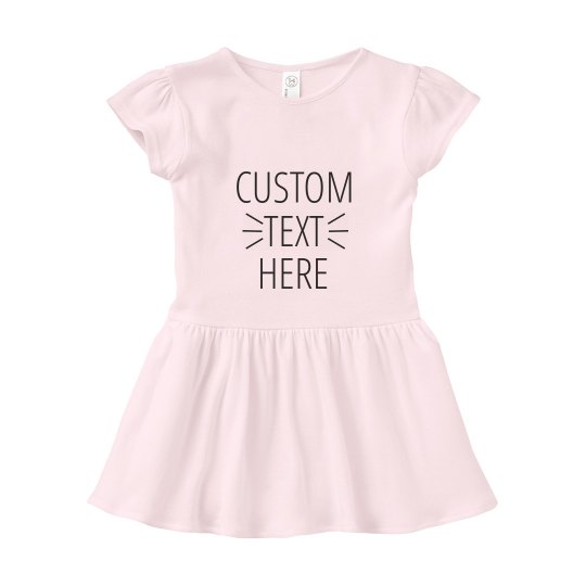 Custom Text Infant Dress