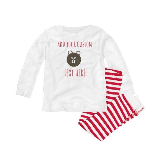Custom Text Infant Pajamas