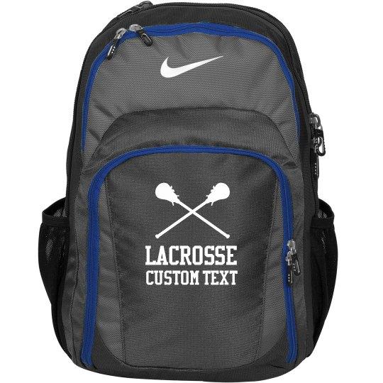 Custom Text Lacrosse Backpack