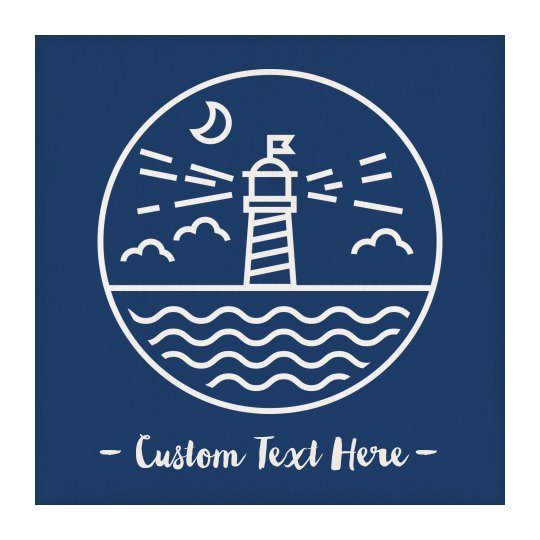 Custom Text Lighthouse Wall Hanging