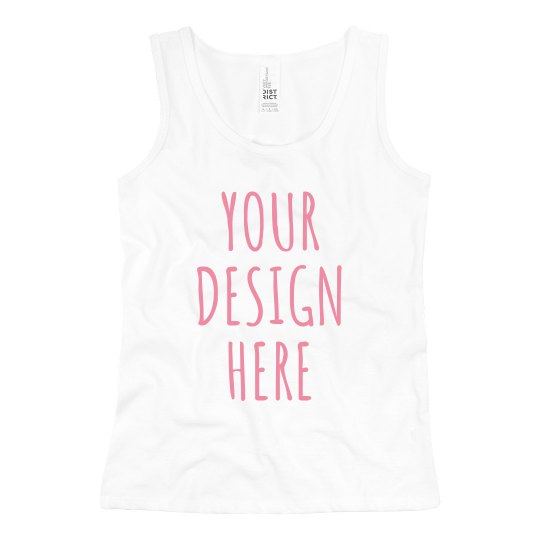 Custom Text Little Girls Tank Tops