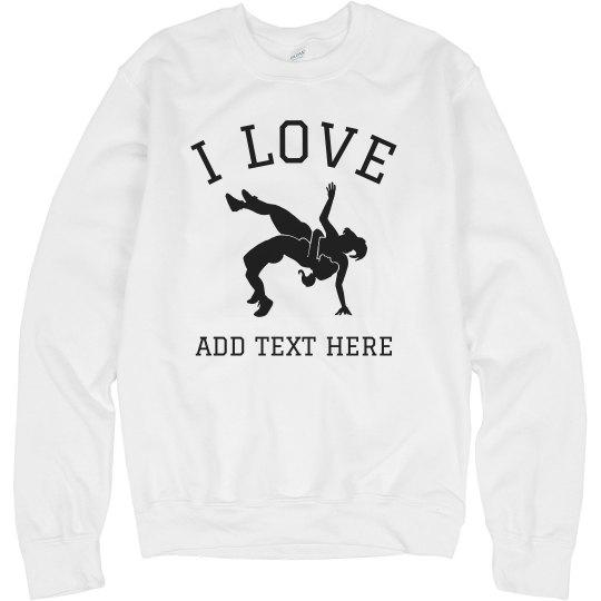 Custom Text Love Wrestling
