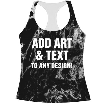 Custom Text Marble Print Workout