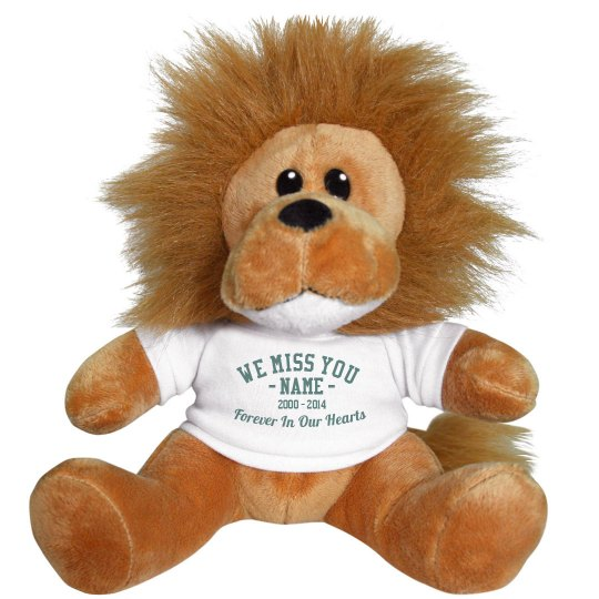 Custom Text Memorial Lion