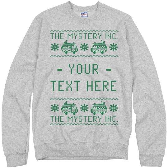 Custom Text Mystery Sweater