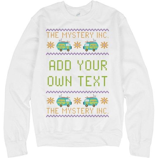 Custom Text Mystery Van Sweater