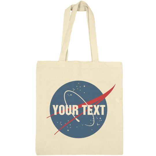 Custom Text Nasa Logo Science Gift