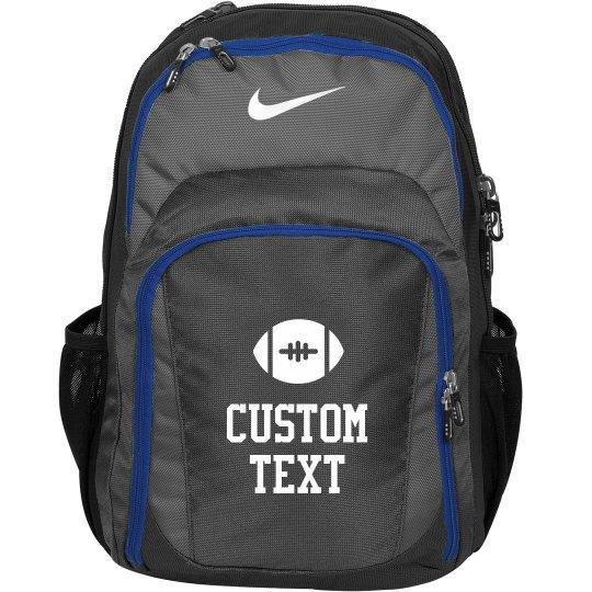 Custom Text Nike Football Practice Backpack/Bag
