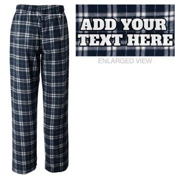 Custom Text on PJ Pants