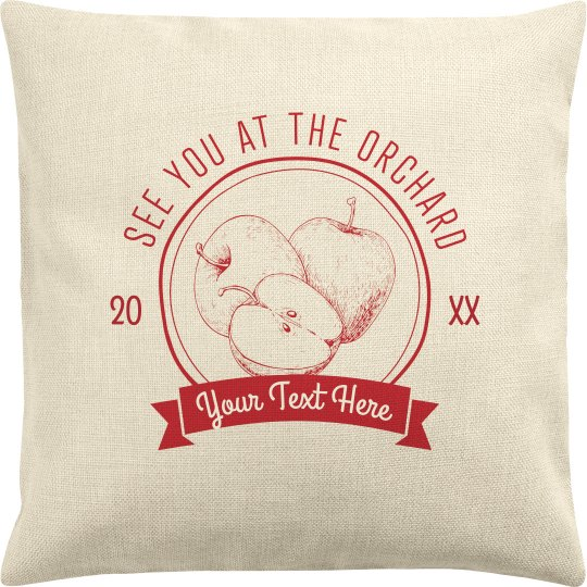 Custom Text Orchard Pillow Case