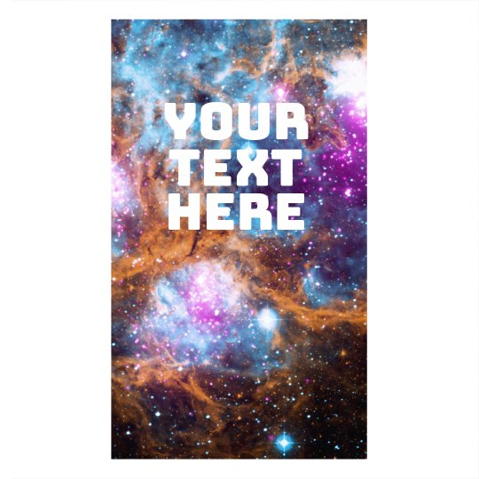 Custom Text Outer Space Face Cover