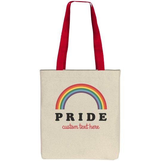 Custom Text Pride Tote Bag