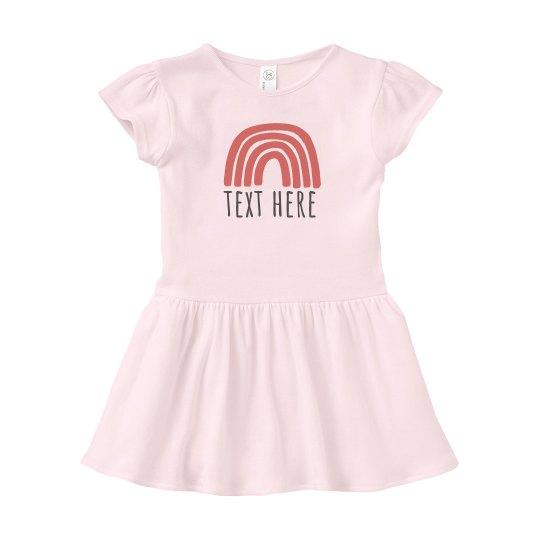 Custom Text Rainbow Baby dress