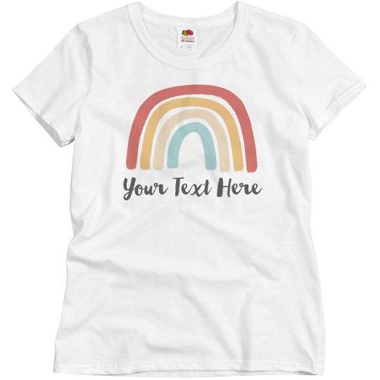 Custom Text Rainbow Top