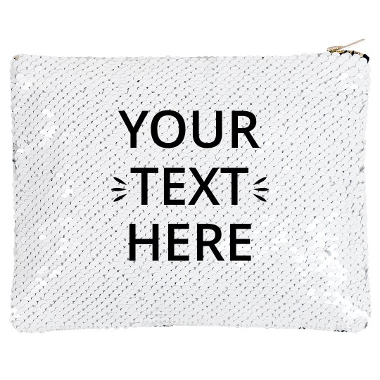 Custom Text Sequin Bag