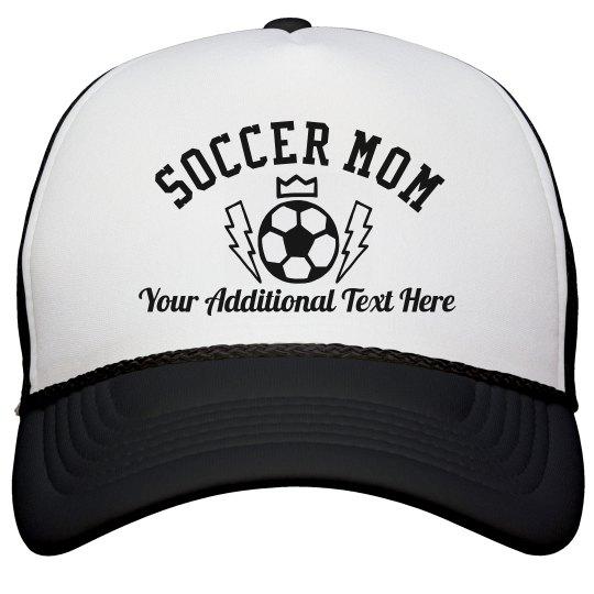 Custom Text Trendy Soccer Mom