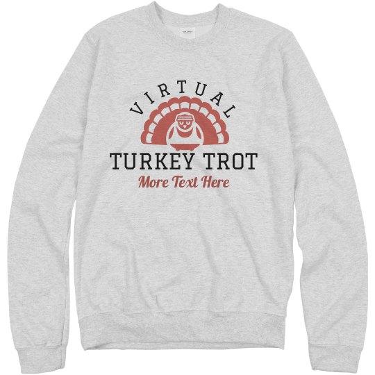 Custom Text Virtual Turkey Trot Sweater