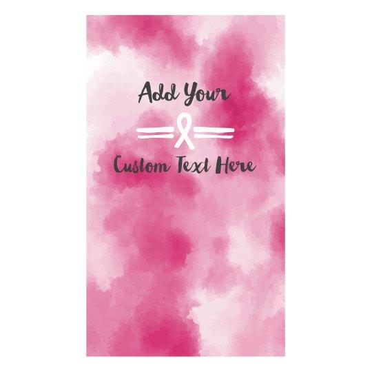 Custom Text Watercolor Ribbon Mask