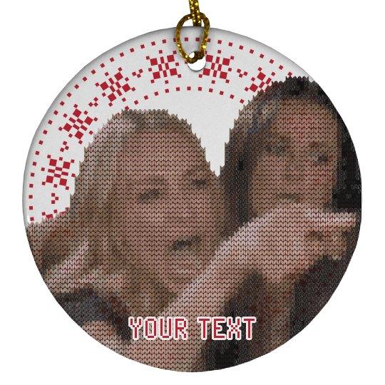 Custom Text Woman Yelling Ornament